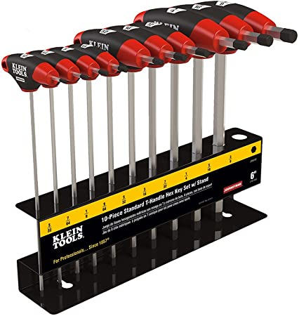 Extra Long T-handle Sizes New 10 Piece Wrench Hex Key Set Heavy Duty