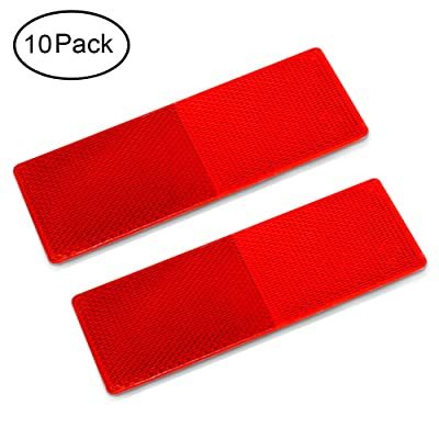 Beam Nier Rectangular Safety Stick-on Reflectors Plastic Reflector Sticker for Trucks, Trailers, RVs and Buses: Industrial & Scientific