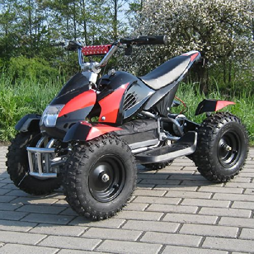 Miniquad Elektro Cobra Kinder 800 Watt ATV Pocket Quad Kinderquad Kinderfahrzeug rot/schwarz