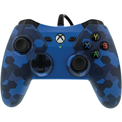PowerA 1503455-01 Wired Controller for Xbox One - Midnight Blue Camo