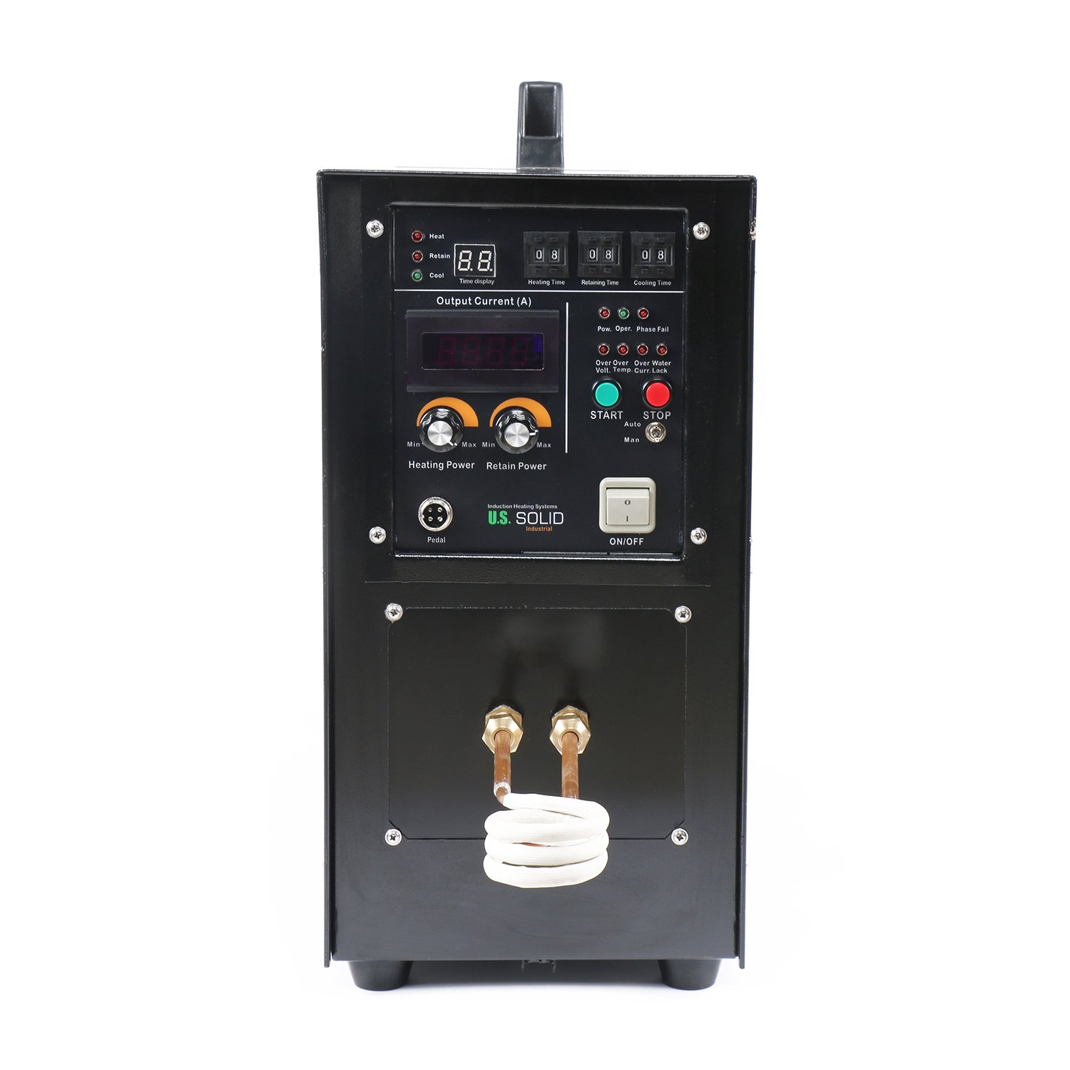 15kw 30 80 Khz High Frequency Induction Heater Furnace 220 V Igbt Circuit Also Water Heating Element
