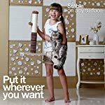 4 Paws Stuff Tall Cat Scratching Post Cat Interactive Toys - Cat Scratch Post Cats Kittens - Plush Sisal Scratch Pole Cat Scratcher - 22 inches (Beige) 17