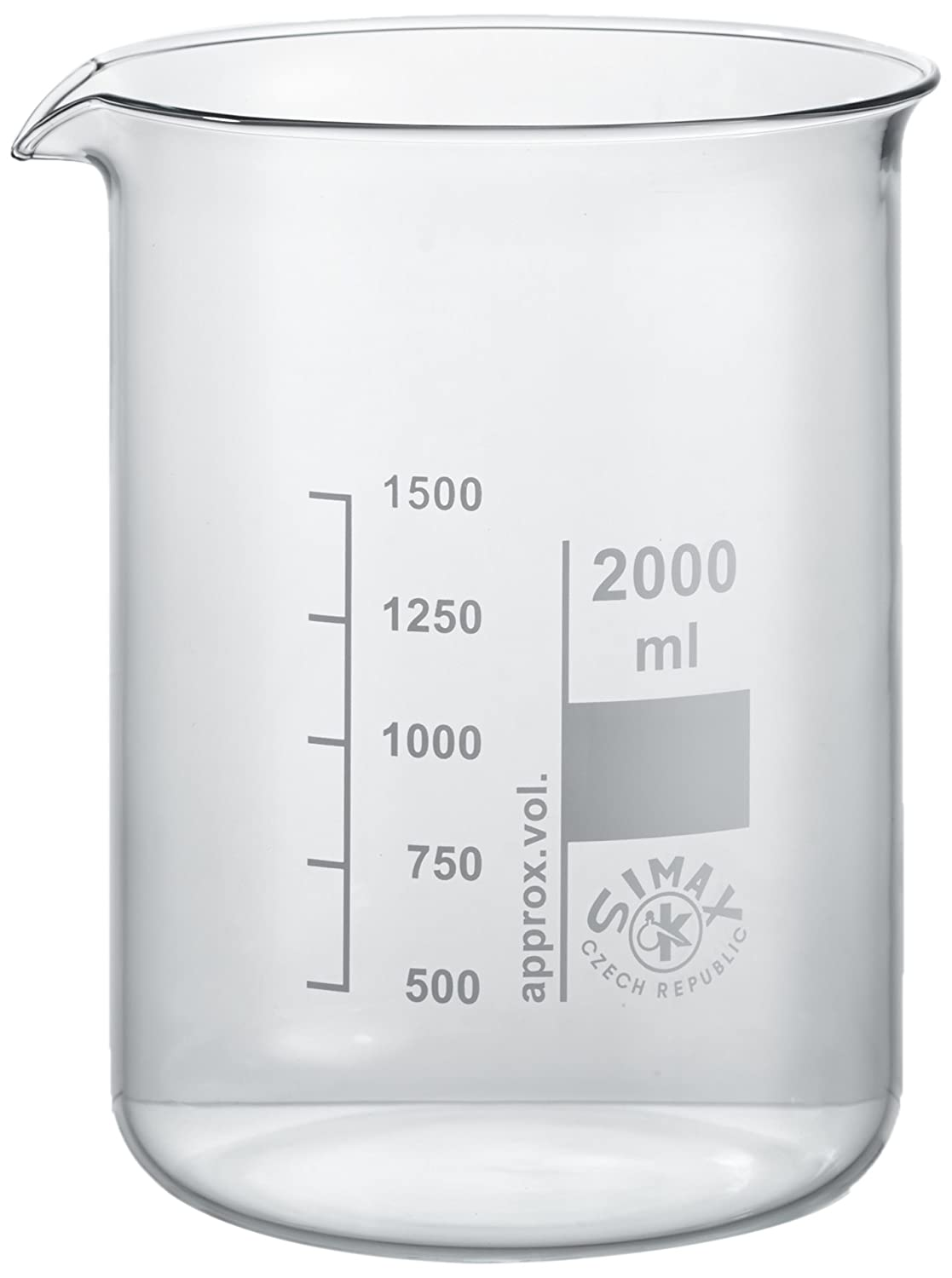 NeoLab E-1043 Low-Form Glass Beakers, 2000 ml, Pack of 4 2000ml
