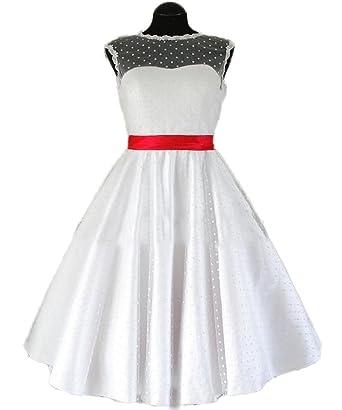 CoCogirls Elegant Kurz Brautkleid Hochzeitskleid Tupfen-Retro ...