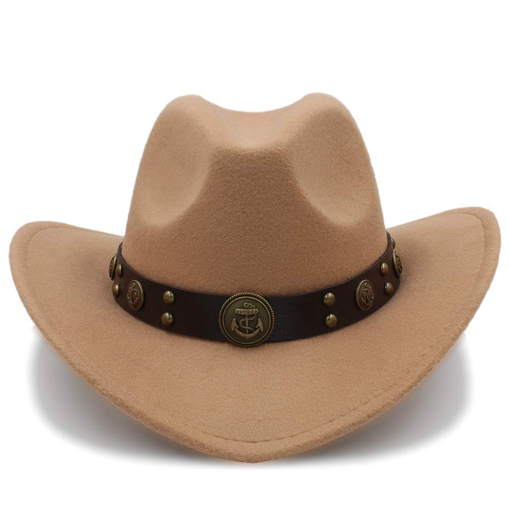 YChoice A Superb hat 100/% Wool Cowboy Hat for Men Sombreros Vaquero Western American Mens Winter Western Felt Hat for Adults Cowboy for Perfect Winter