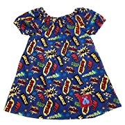 Bailey Bug Baby and Toddler Comic Book Peasant Dress (12-18 Months)