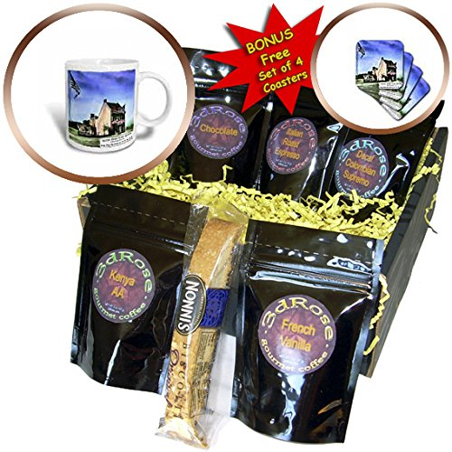 Scenes from the Past Magic Lantern - Betsy Ross House Philadelphia Pennsylvania American Flag Vintage - Coffee Gift Baskets - Coffee Gift Basket (cgb_244013_1)