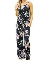 Combinaison Imprimé Fleurs,OverDose Été Femme Casual Pantalons Large Caraco Rompers Jumpsuit