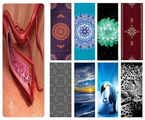 Eco Fuse Yoga Mat By Nalahome 72 X26 X3mm Thick Natural Rubber And Microfiber Blood Vessel Sliced Macro With Erythrocytes M For All Yoga Practices  Bikram  Hatha  Ashtanga  Hot Yoga  Home Workout
