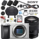 Sony a6300 4K Mirrorless Camera ILCE-6300M/S Alpha (Silver) with 18-135mm F3.5-5.6 OSS Lens and Case Extra Battery Memory Card Pro Photograpy Bundle
