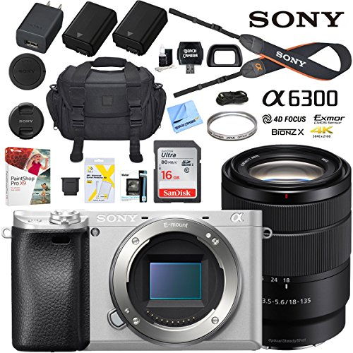 Sony a6300 4K Mirrorless Camera ILCE-6300M/S Alpha  with 18-