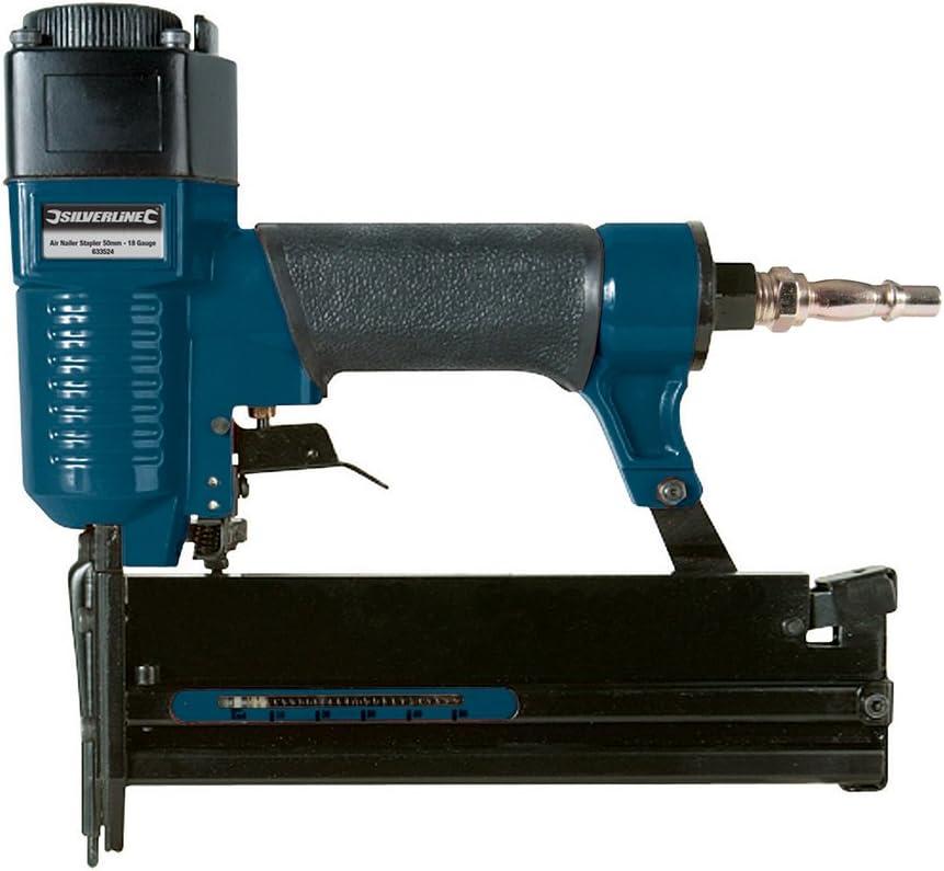 Silverline 633524 18 Gauge Air Nailer Stapler 50 mm
