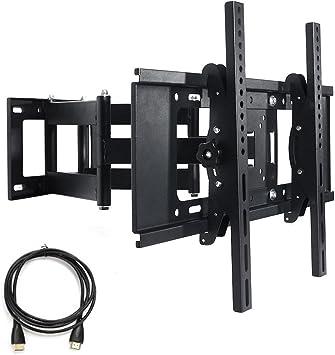 TV Soporte de pared inclinable y orientable 3d para 17 a 70 ...