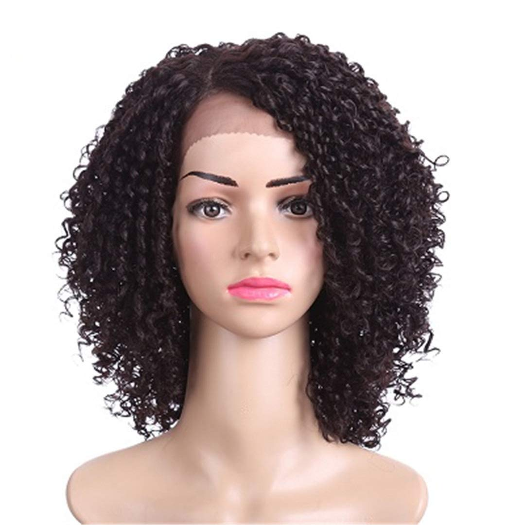 Amazon.com : 14Inch Short Hair Kinky Curly Wig Synthetic Wig For Women Naturelle Black African American Wigs Cosplay #1B 14inches : Beauty