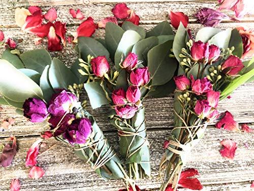Eucalyptus, White Sage & Rose Smudge Bundle -