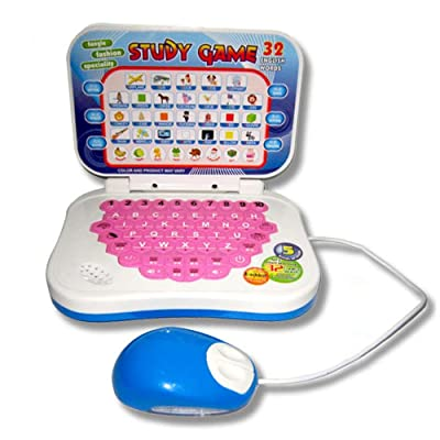 Jullynice Portable Bilingual Early Educational Learning Machine Kids Laptop Toy with Mouse Computer Children Gift Developmental Toy: Home & Kitchen
