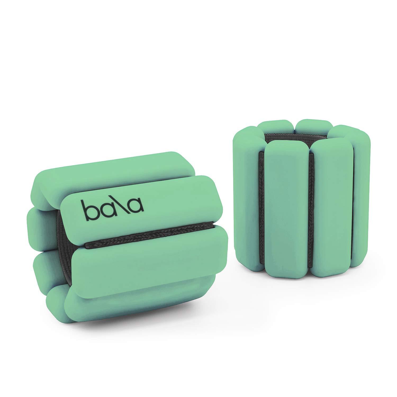 Bala Bangles | Fully Adjustable Wearable Wrist & Ankle Weights | Yoga, Dance, Running, Barre, Pilates, Cardio, Aerobics, Walking | 1 Pound Each, 2 Per Set (Matcha Green) by Bala Bangles