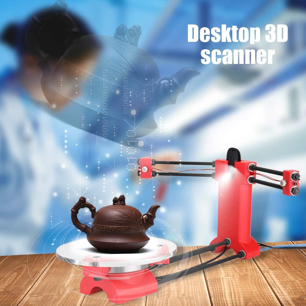 Festnight Kit de scanner de base de bureau de haute pr/écision 3D de scanner de source ouverte de DIY avec la prise multifonctionnelle