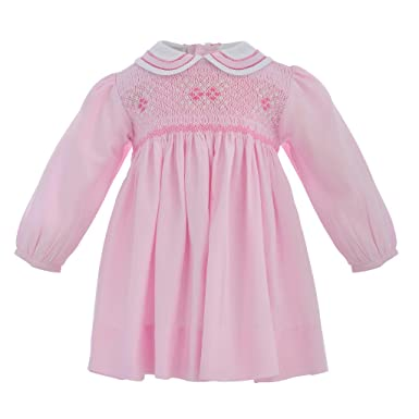 f1e7b24020f13 Carriage Boutique Baby Girl Classic Long Sleeve Dress - Pastel Pink