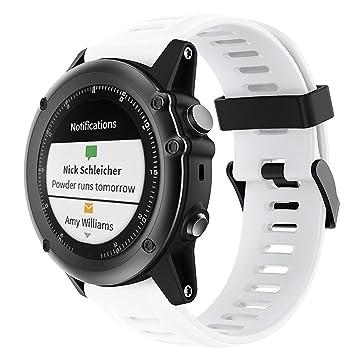 HONECUMI*** para Garmin Fenix 3 banda de silicona Garmin Vivoactive correa de reloj