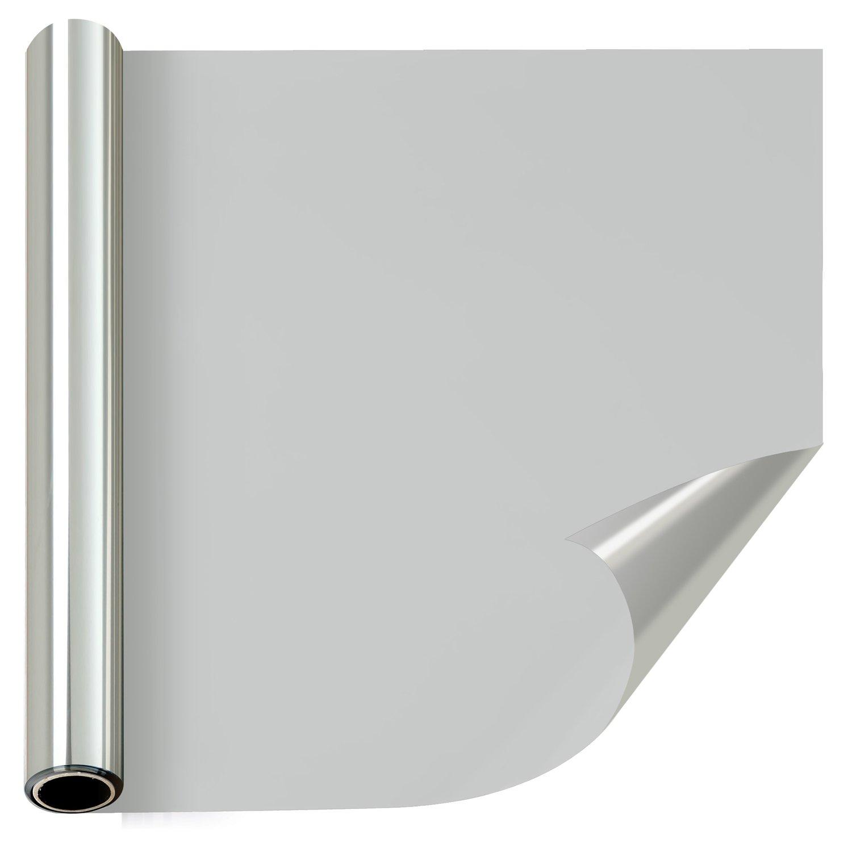 窓断熱シート マジックミラー 窓薄色ガラススクリーン 自宅屋内プライバシースクリーン 装飾的な断熱住宅窓フィルム (60cm×1000cm, シルバー) B07CN35S24 60cm x 1000cm|シルバー シルバー 60cm x 1000cm
