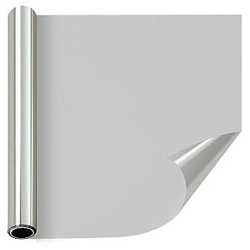 窓断熱シート マジックミラー 窓薄色ガラススクリーン 自宅屋内プライバシースクリーン 装飾的な断熱住宅窓フィルム (90cm×200cm, シルバー)
