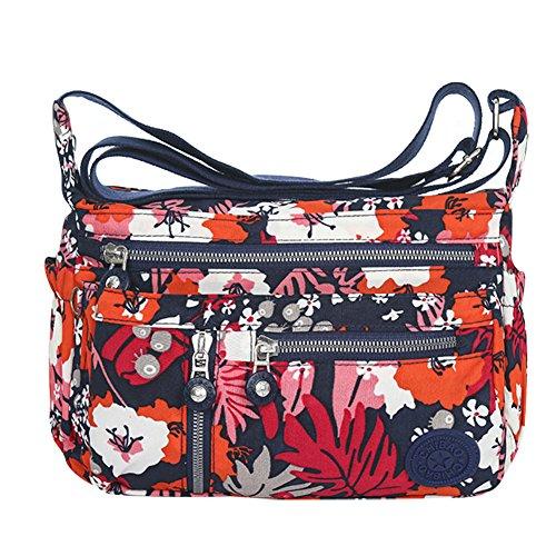 Waterproof Nylon Multi Pocket Large Capacity Shoulder Crossbody Casual Messenger Bags Handbags Purses
