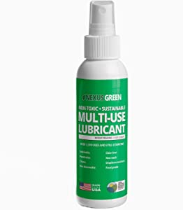 Nexus Green Non Toxic, Odor Free, Environmentally Friendly Multi-Use Lubricant | American Made Food Grade Cleaner, Non-Petroleum Oil Lubricant & Preservative/Protectant | (4 oz Spray Bottle)