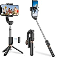 Apexel Bluetooth Selfie Stick, Handheld Extendable Phone Tripod with Single Axis Gimbal Anti-Shaking Stabilizer for…