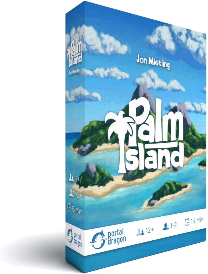 Palm Island Strategy Card Game - The Portable Solo/Competitive/Cooperative Game You can Play Camping, at The Beach or Anywhere