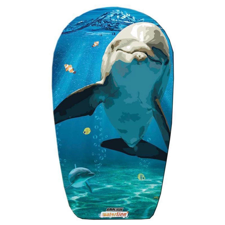 Unbekannt Otto Simon Body Board, con parte inferiore liscia e diversi motivi, Delfine