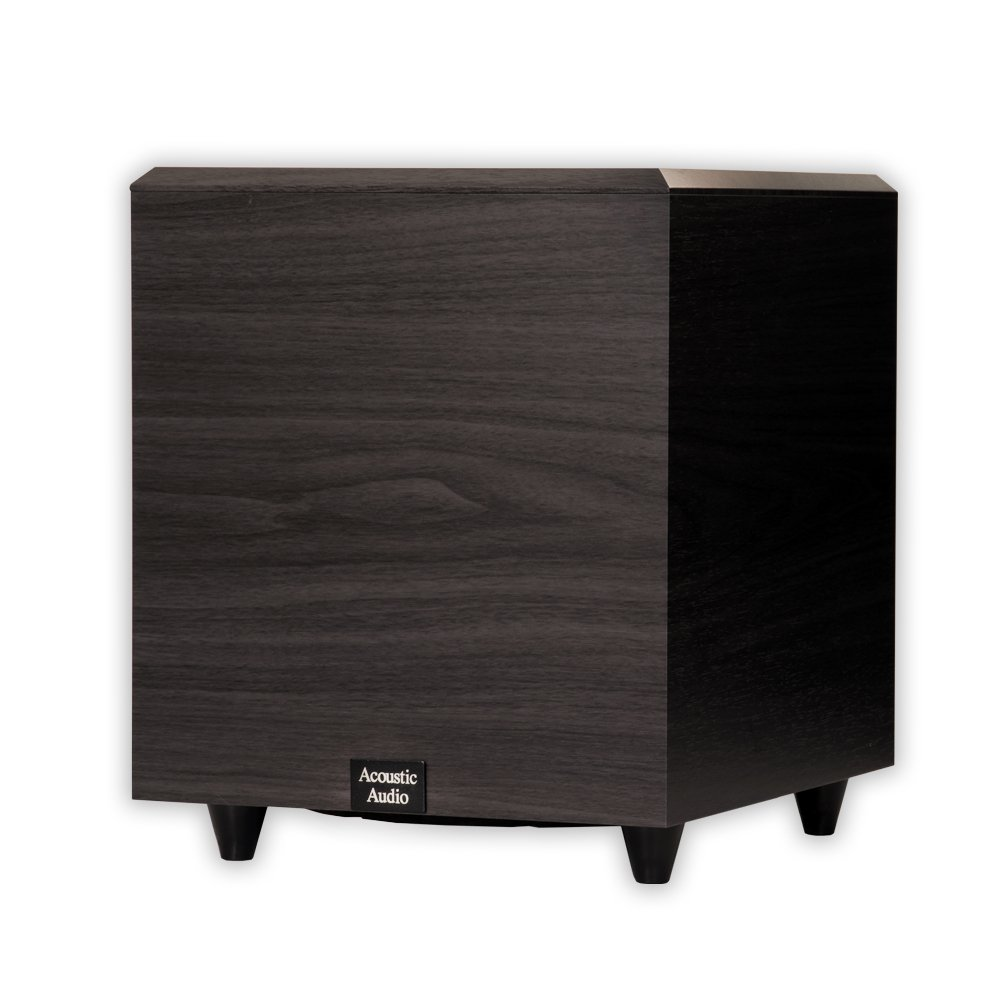 Acoustic Audio RWSUB10 Home Theater Powered 10'' Subwoofer Black Down Firing Sub by Acoustic Audio by Goldwood