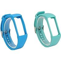 bobotron 2 Stks Siliconen Horlogeband voor Polar A360 A370 Polsband Siliconen Polsband Smart Armband Vervanging voor Polar Fitness Tracker Blauw & Donker Groen