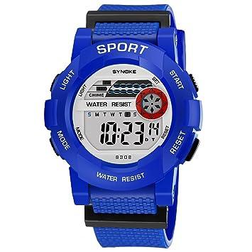 Domybest Fashion Sports relojes adolescentes Boy Girl Digital reloj de pulsera impermeable luminoso alarma reloj estudiantes regalo: Amazon.es: Coche y moto