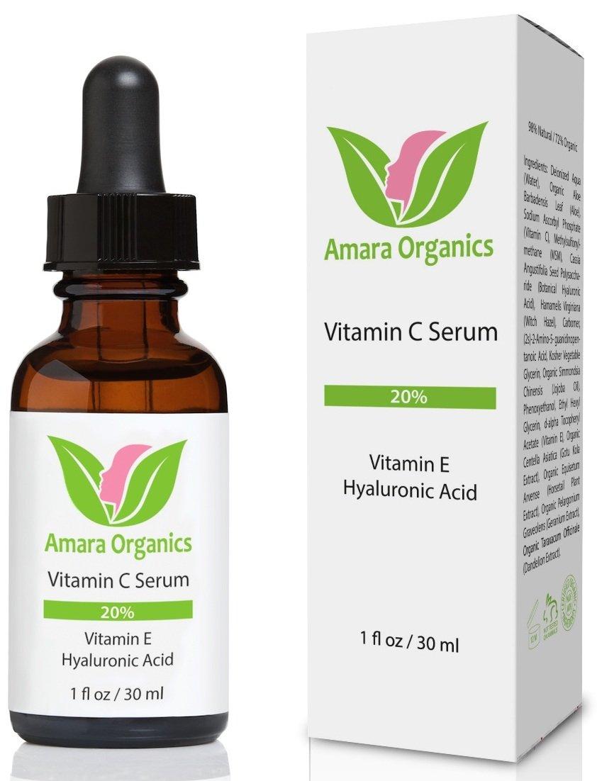 Amazon.com: Amara Organics Vitamin C Serum for Face 20% with ...