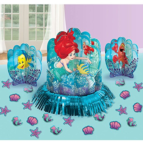 Disney Ariel The Little Mermaid Dream Big Table Decorating Kit 23 pieces Party (Little Mermaid Birthday Party Decorations)
