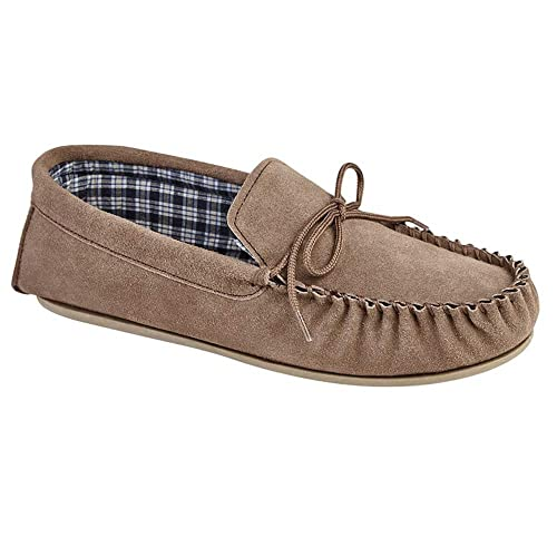 SleepersSlippers - zapatillas de andar por casa hombre , color Marrón, talla 47 EU (