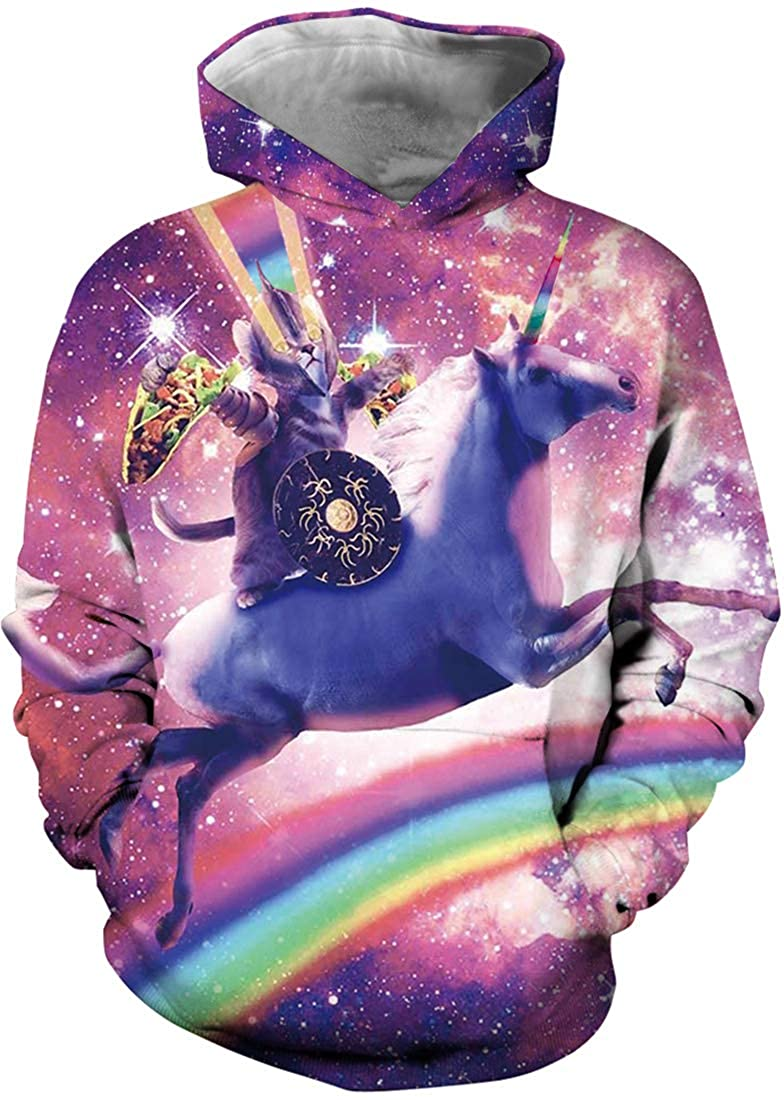 EmilyLe Girls Rainbow Unicorn Print Sweatshirt Kids Galaxy Long Sleeve Pullover Sweaters 4-13Y