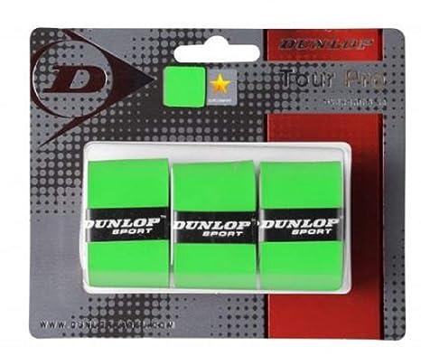 DUNLOP Tour Pro Overgrip 3 Unidades Verde: Amazon.es: Deportes y ...