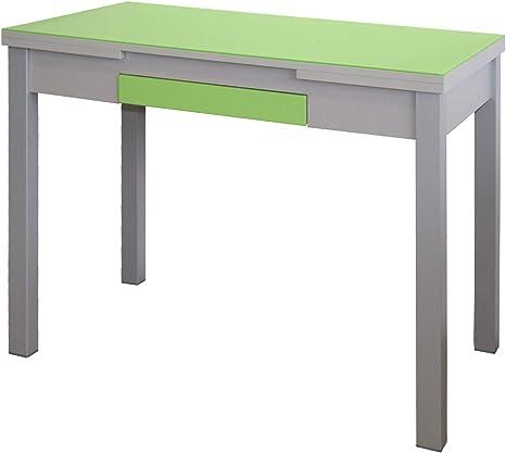 MOMMA HOME Mesa Extensible - Modelo Tetra - Color Verde/Plata ...