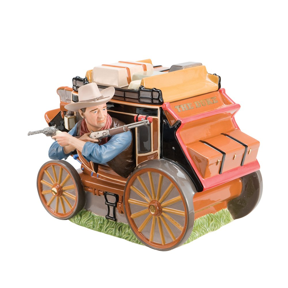 John Wayne Western Movies Stagecoach Cookie Jar LE New Vandor Gift by Vandor