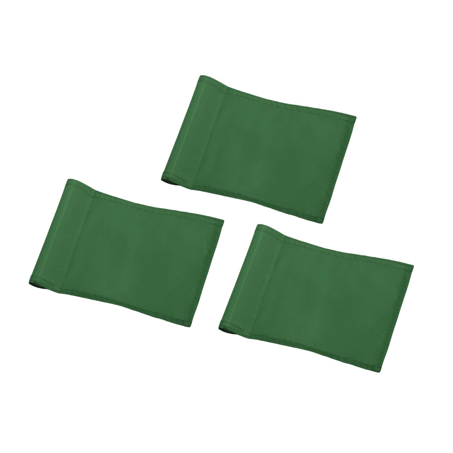 KINGTOP Solid Golf Flag with Plastic Insert, Putting Green Flags for Yard, Indoor/Outdoor, Garden Pin Flags, 420D Premium Nylon Flag, 8'' L x 6'' H, Green, 3-Pack by KINGTOP
