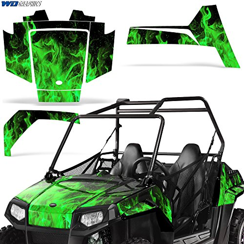 Polaris Scrambler 500//350 1985-2009 Decal Graphic Kit ATV Quad Sticker Part Deco FLAMES RED