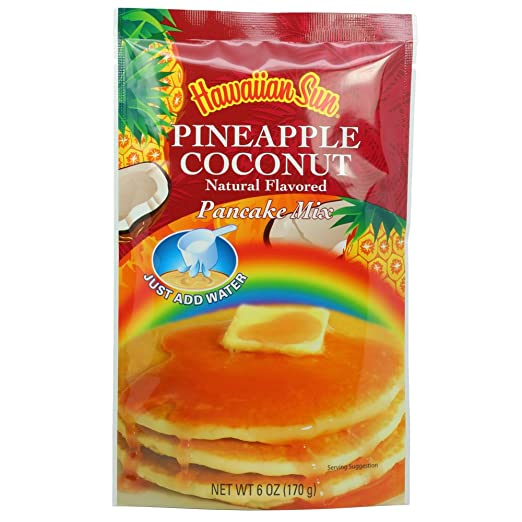 Amazon.com : Banana Macadamia Nut Pancake Mix, 6 Ounce (Pack of 3) by Hawaiian Sun : Grocery & Gourmet Food