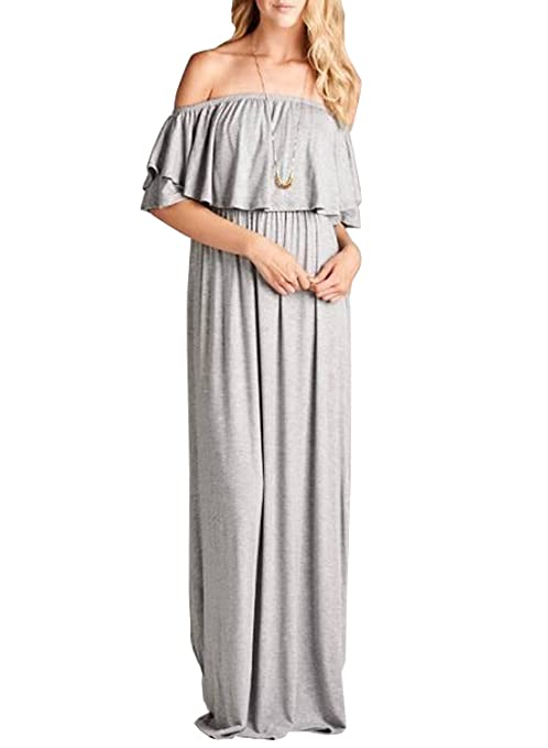 861ab8cf2ab2e MIHOLL Cowl Neck and Over The Shoulder Maternity Dress by Mother Bee (Small,  Gray): Amazon.ca: Clothing & Accessories