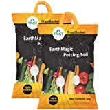 TrustBasket Enriched Organic Earth Magic Potting Soil Mix with Required Fertilizers for Plants - 10 Kg