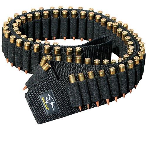 Rifle Cartridge Ammo Bandoleer with 80 Secure Elastic Loops ()