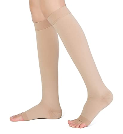 5edf9fd6c5acfa DCCDU Medical Knee High Open Toe Compression Stockings(Women&Men) Firm  Support 20-30mmHg,Graduated Toeless Knee Support Stockings Hose for  Swelling,Varicose ...