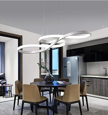 Lámpara colgante LED moderna Luz colgante nórdica negra ...