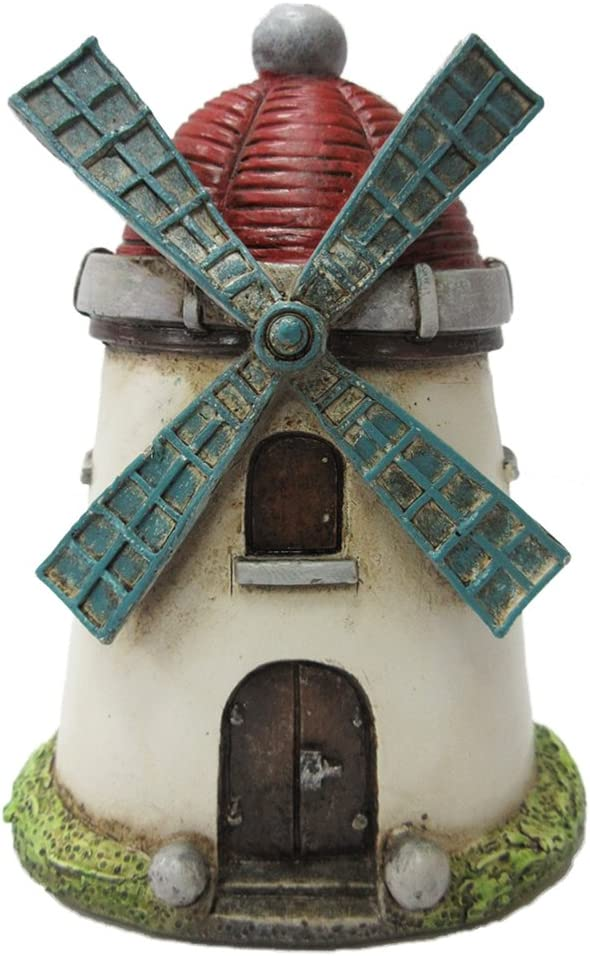 Pacific Giftware Enchanted Garden Decorative Windmill Tower Mini Fairy Garden Decorative Accessory 4.25 inch Tall